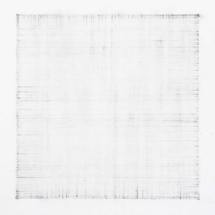 Erased Black Square - abstract drawing by David Smith