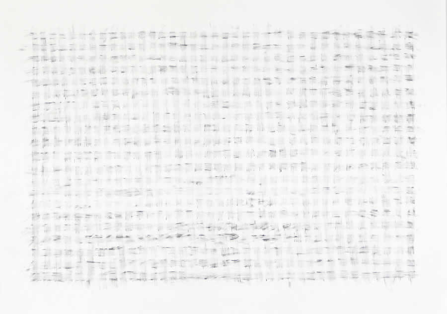 Double Erasure: Winter Field - drawing on paper by David Smith