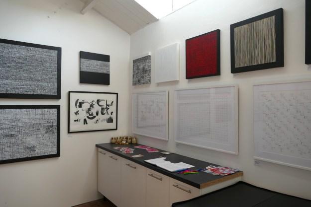 Photograph of David Smith's studio