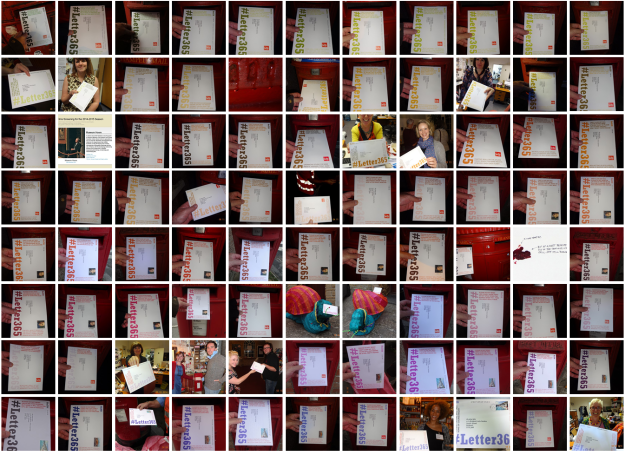 Montage of images from the #Letter365 project blog
