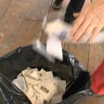 Unopened artworks get destroyed and binned by audience members