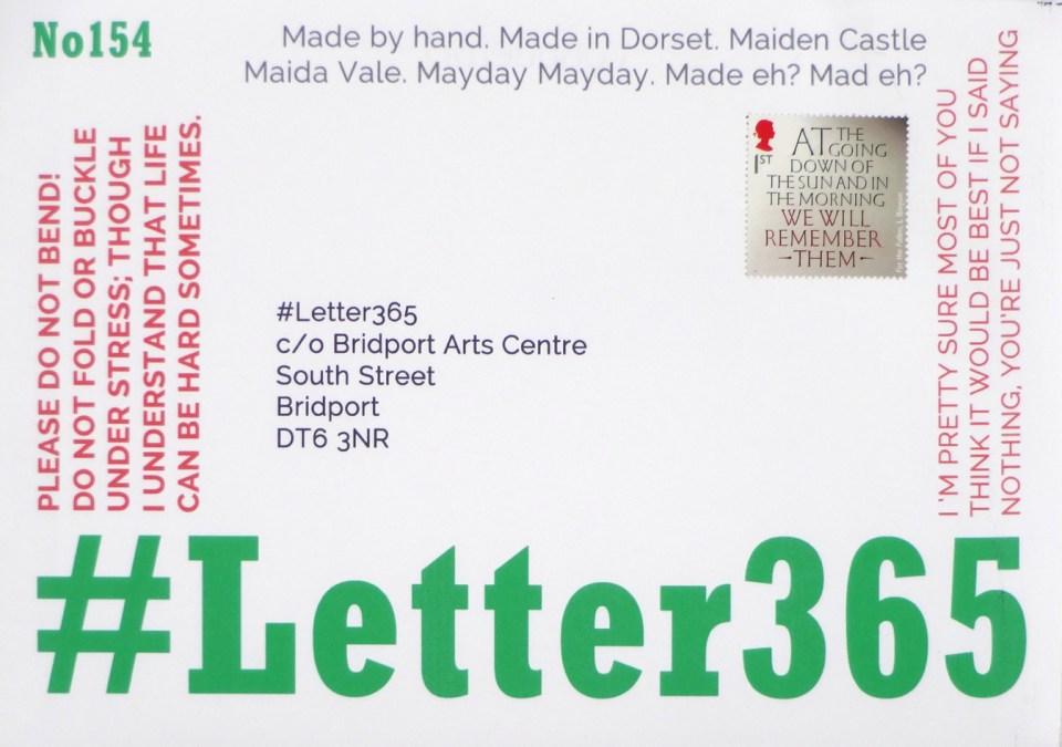 Front of #Letter365 envelope