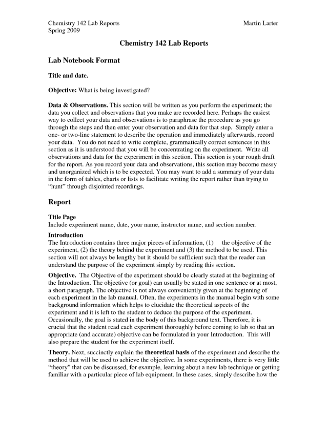 lab abstract example