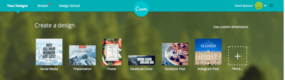 canva.com - Design Selection