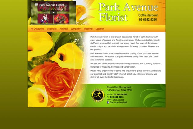 Park Avenue Florist Screenshot