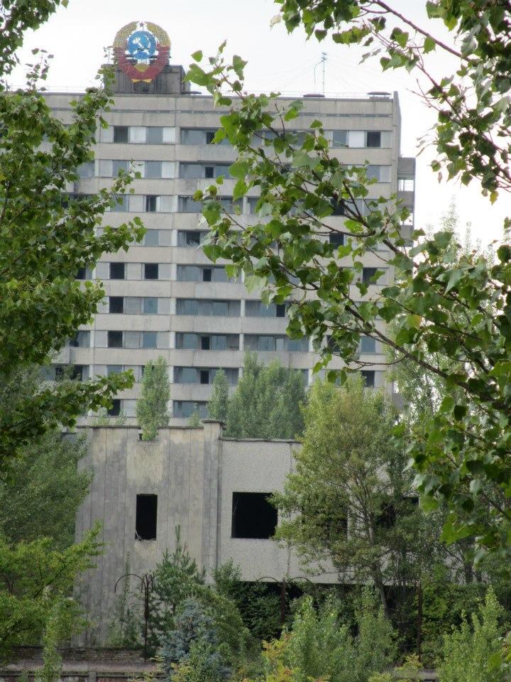 Inne i Pripyat.