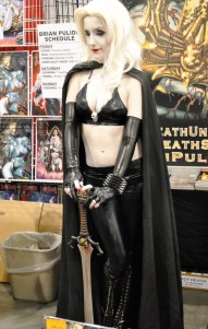 Lady Death at Brian Pulido's table.