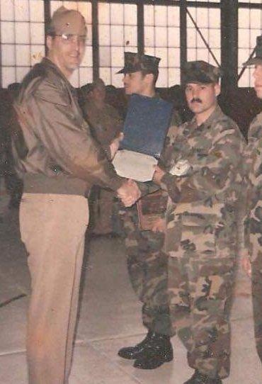 Me receiving a military award