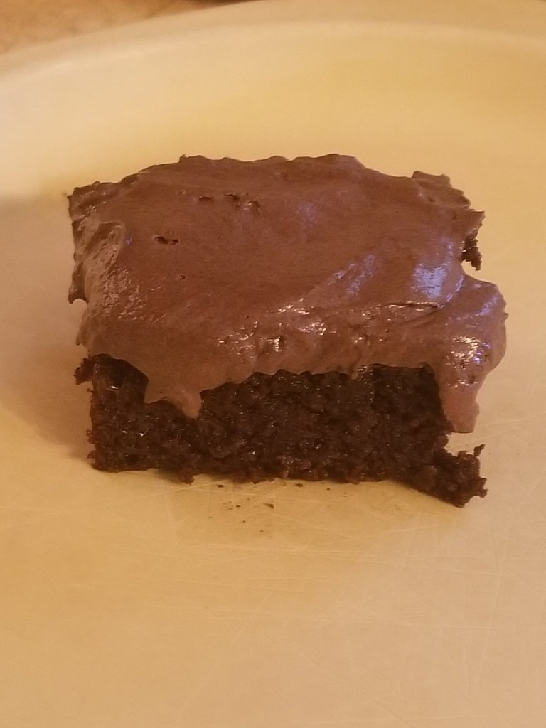 Frosted sugar free brownie