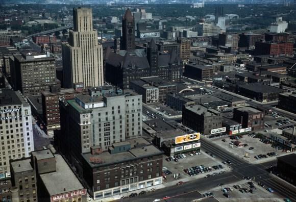 This is Minneapolis - Minneapolis (S.E.) from Foshay Tower - 1949