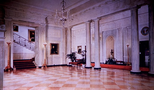 White House - Entrance Hall After Restoration