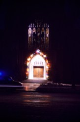 Christmas - Peace Lutheran Church Entrance - Hutchinson, MN