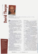Writing Magazine interview with David Thorpe June 09
