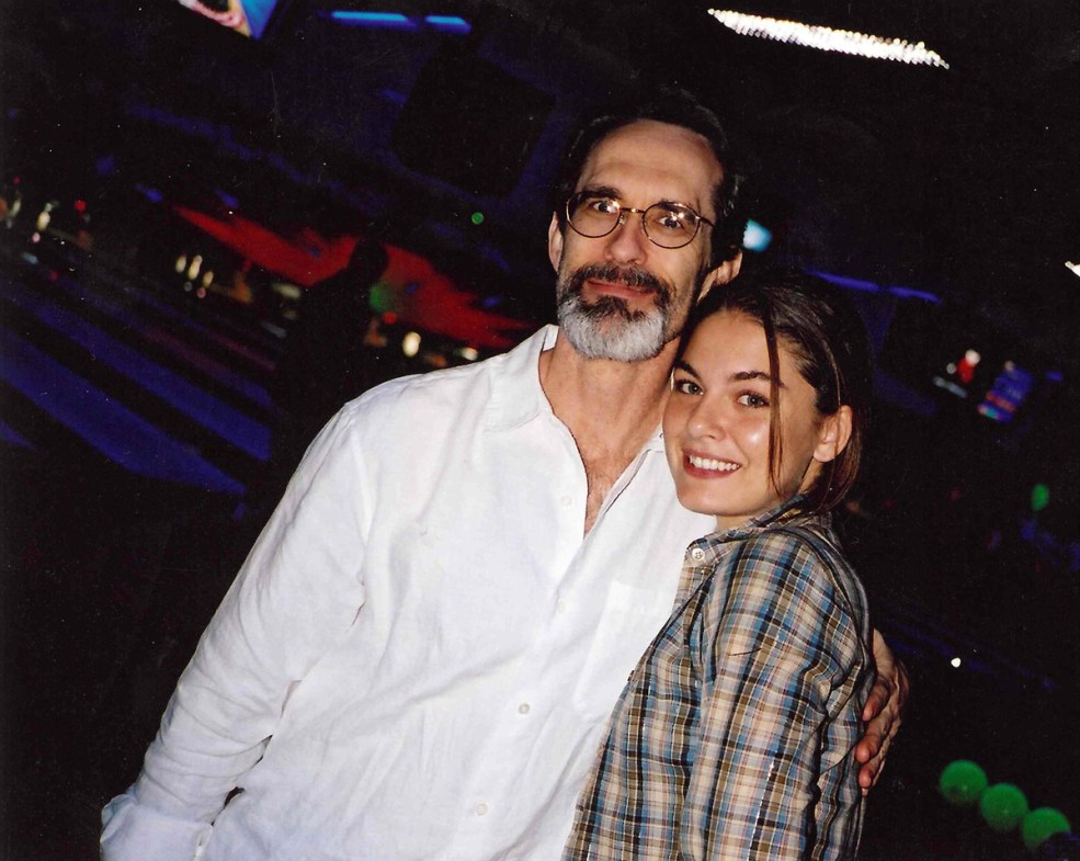 David Twohy and Alexa Davalos, at wrap.