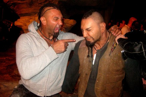 Dave Bautista and his doppleganger, Montreal, RIDDICK, 2012.