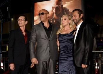 David Twohy, Vin Diesel, Katee Sachoff, Jordi Molla, RIDDICK premiere, Westwood California, 2013.