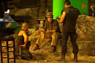Reheasing the High Plains Summit, Vin Diesel, David Twohy, Matt Nable, Montreal, RIDDICK, 2012.