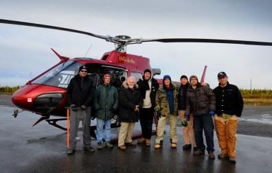 VFX Plate Crew, waiting out the rain, Kujuuaaq Quebec, RIDDICK, 2011.