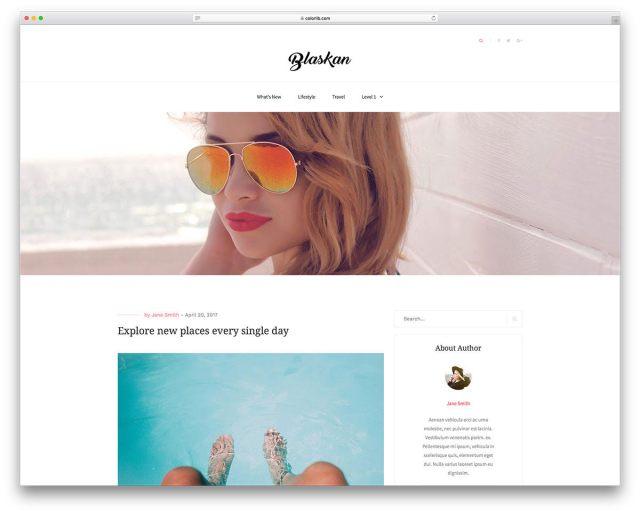 Blaskan WordPress Theme