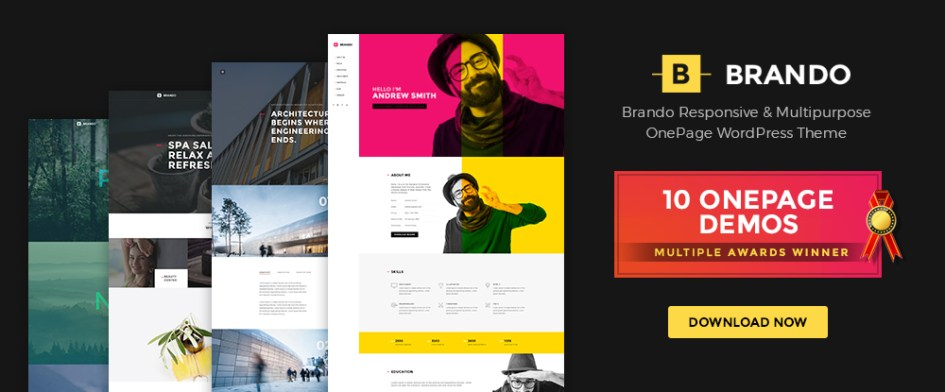 Brando - A multi-purpose one page WordPress theme