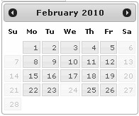jQuery Calendar Picker