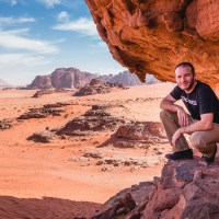 A bit of hiking in Wadi Rum desert