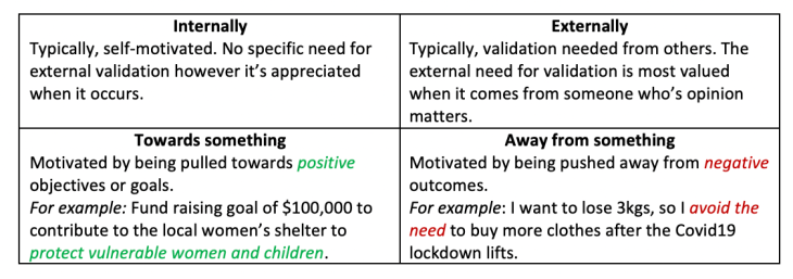 Motivation Styles and Preferences