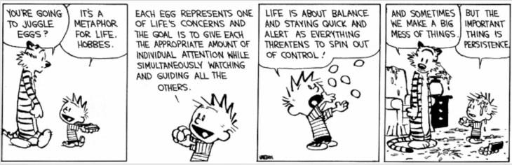 Calvin & Hobbs Work-life balance