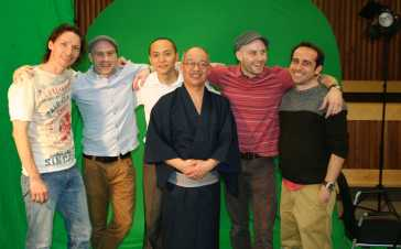 With the Directors and Producer on set 2013