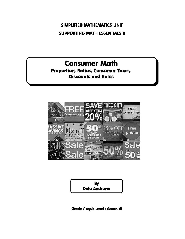 Math Essentials Book 8 Consumer Math