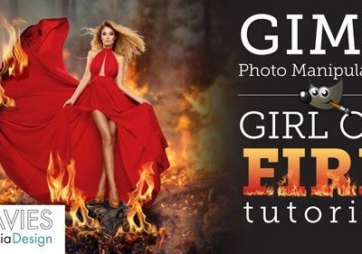 GIMP Tutorial: Girl on Fire Photo Manipulation