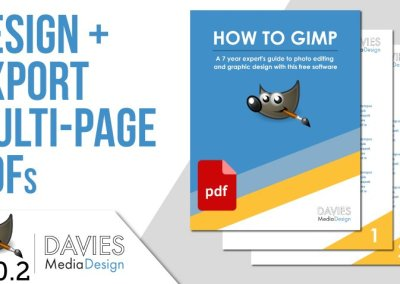 Design and Export a Multi-Page PDF in GIMP 2.10.2