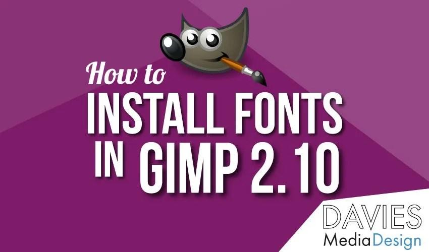 Jak nainstalovat fonty v GIMPu