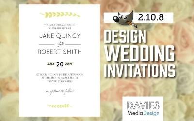 Cómo diseñar invitaciones de boda en GIMP 2.10