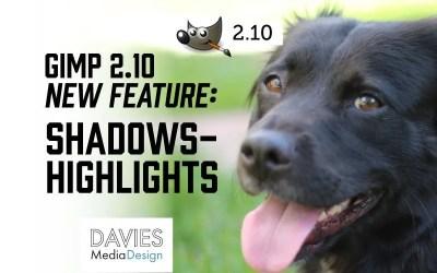 Característica de resaltado de sombras de GIMP 2.10 (versión de texto)