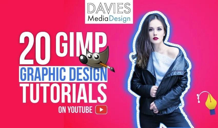 Top 20 GIMP Graphic Design Tutorials on YouTube