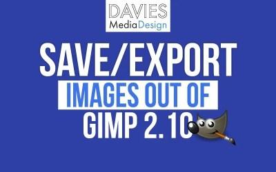 GIMP मूल बातें: GIMP से छवियाँ सहेजें और निर्यात करें