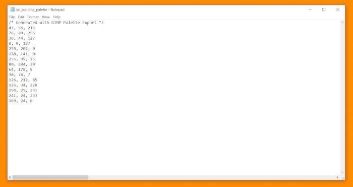 GIMPパレットチュートリアルコードCSSドキュメント整理