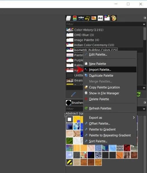 Εισαγάγετε μια παλέτα στο GIMP 2 10 2019 Tutorial