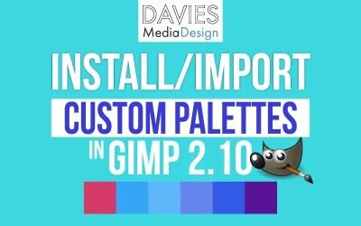 Cómo instalar paletas personalizadas en GIMP