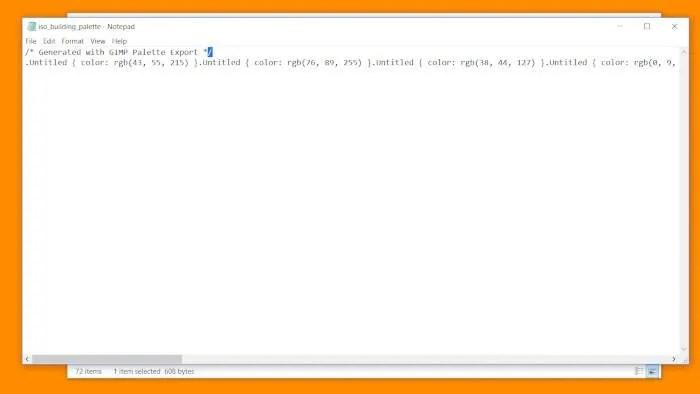 김프 코드의 팔레트 CSS 문서