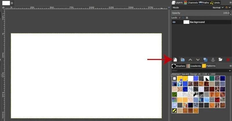 Izveidojiet jaunu slāni, lai mainītu izmēru GIMP