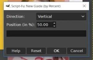 Neuer Leitfaden nach Prozent-Dialog GIMP 2 10