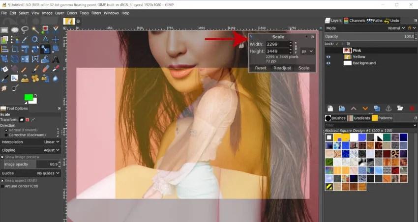 Шкала инструментов GIMP 2 10 10
