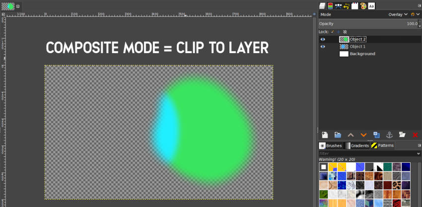 Clip to Layer Composite-Modus GIMP 2 10
