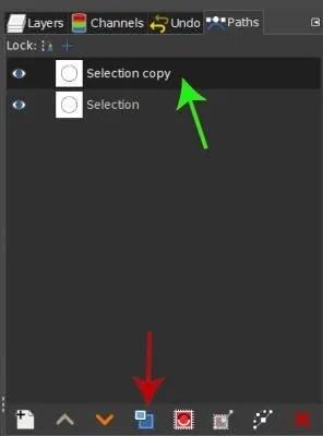 Copy a Path in GIMP 2019