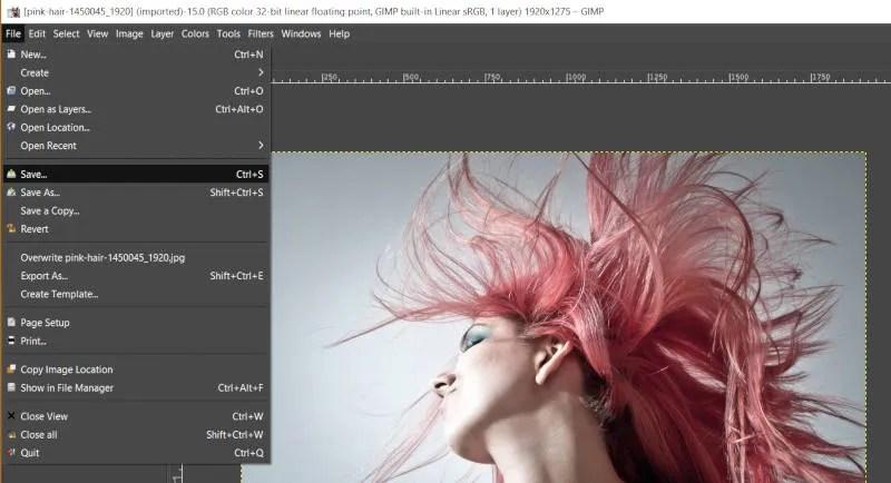 Datoteka Spremi JPEG GIMP Tutorial