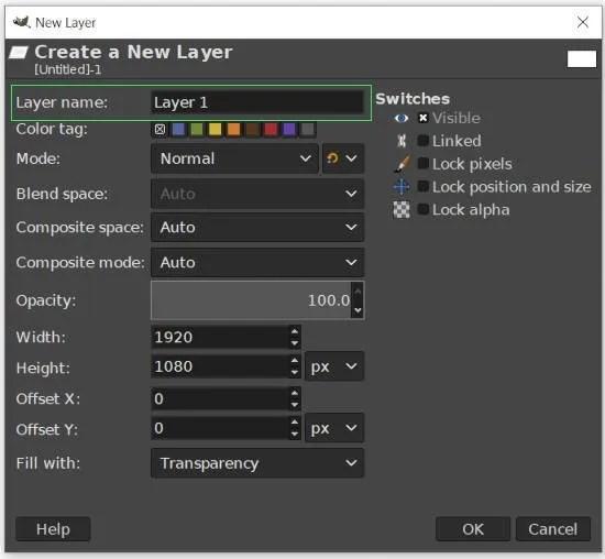 Pārdēvējiet savu slāni GIMP 2 10 slāņa apmācība