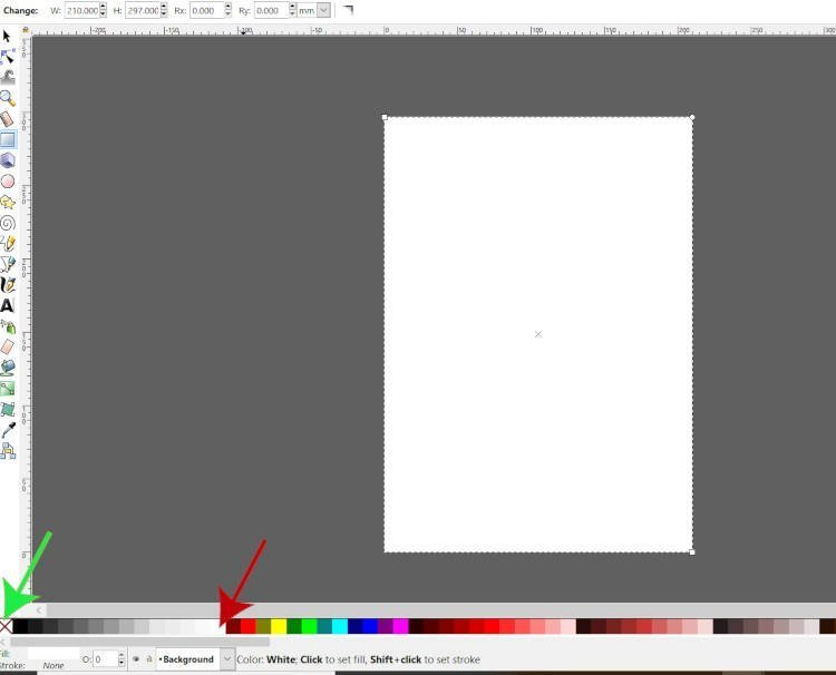 Change Shape Foreground Color Using Inkscape Swatches