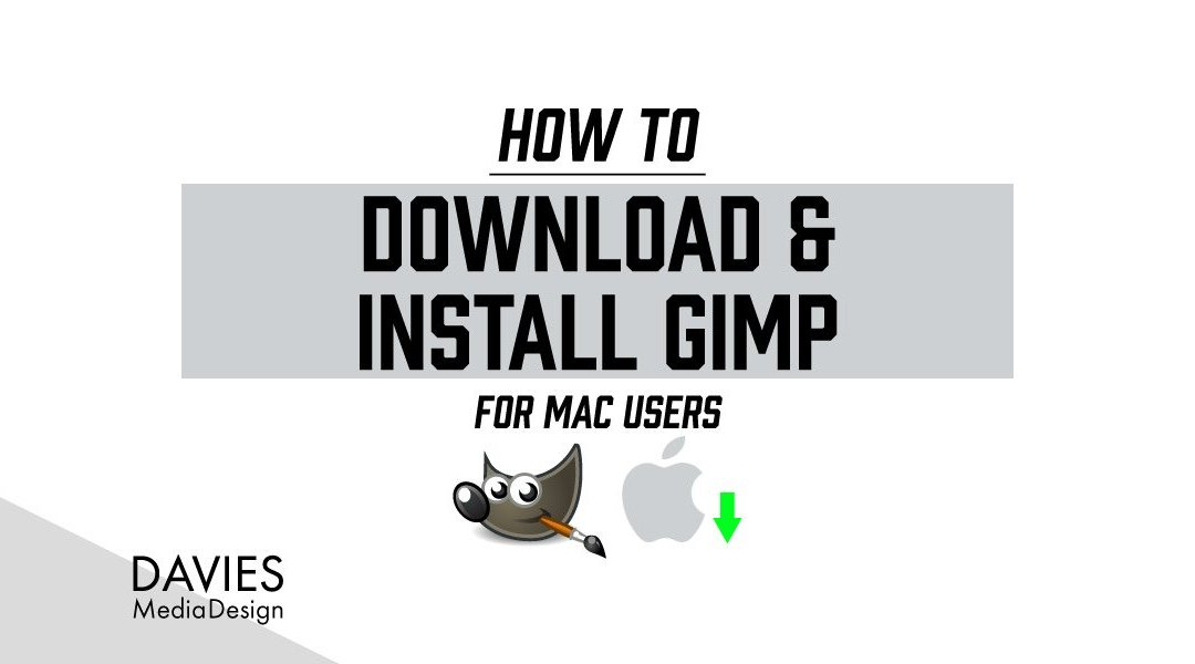 Sådan downloades og installeres GIMP 2.10 til MAC